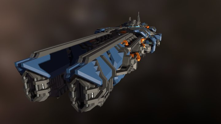 CG-S Experimental Beam Frigate Type 2 3D Model