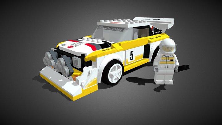LEGO AUDI QUATRO S1 - 76897 3D Model