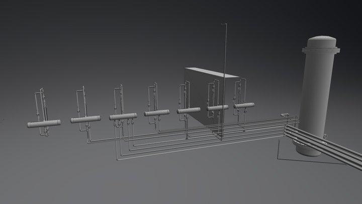 3D SISTEMA ACTUAL ROTAMETROS 3D Model