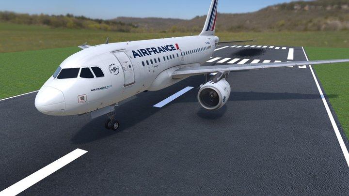 Airbus - a 318 liveri Air France 3D Model