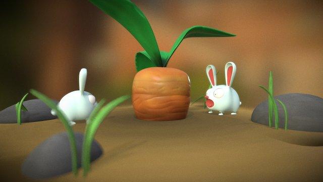 Rabbits 3D Model