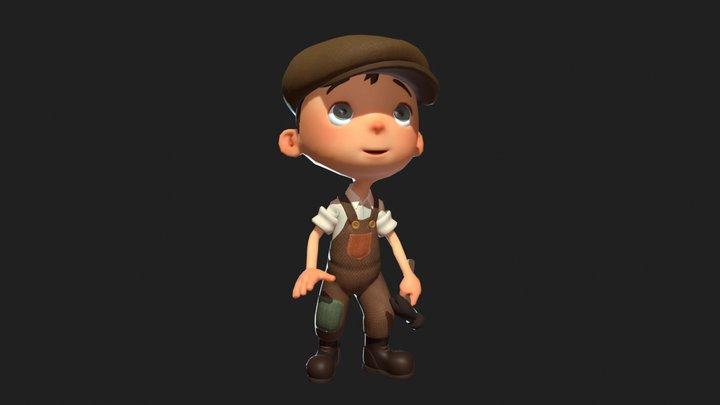 Luna Boy 3D Model