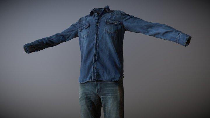 Men's Clothing_01 (3D scan) 3D Model
