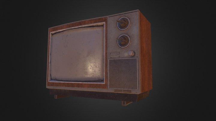 80's inspired TV 3D Model