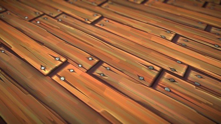Wooden Planks - Stylized Substance 3D Model