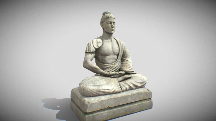 Meditator Statue 3D Model