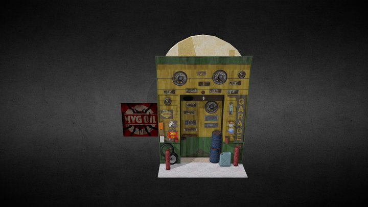 [Porte] Cellule 105 - Garage (2019) 3D Model