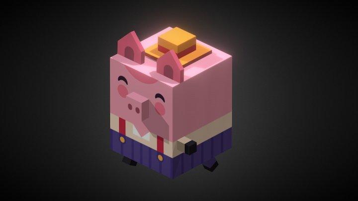 Pig2_anim 3D Model