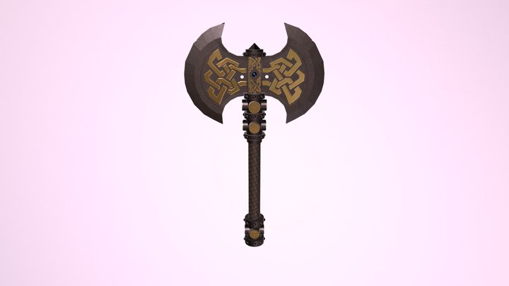 Dwarf Axe 3D Model