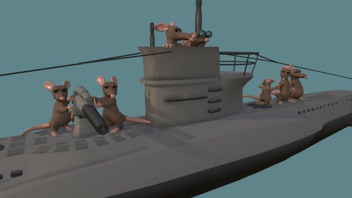U-boat Rats 3D Model