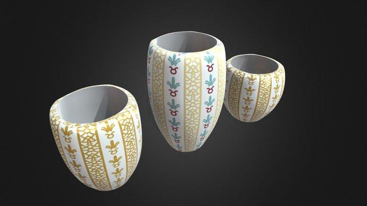 15-Cups 3D Model