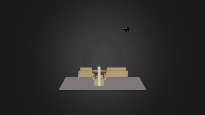 AKP Messestand Konstruktion 3D Model