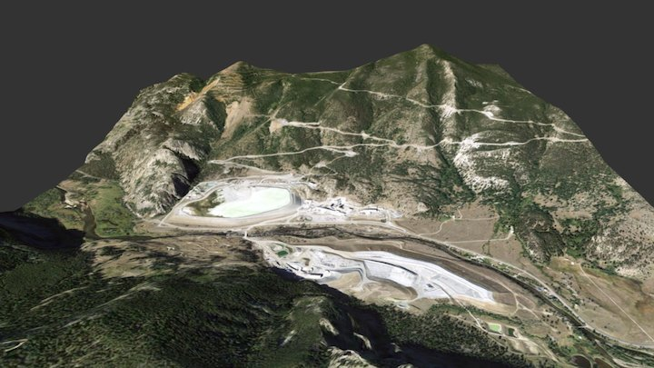 Stillwater Mine near Nye, Montana 3D Model