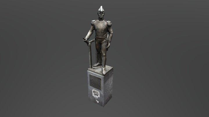 Admiral Brown Statue 3D Model
