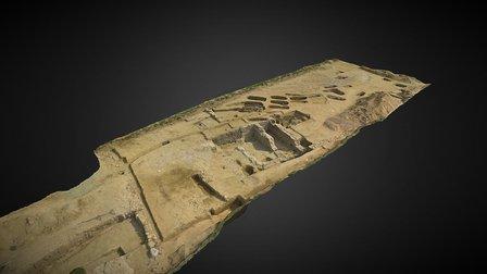 Courtepin, villa romaine et tombes médiévales 3D Model