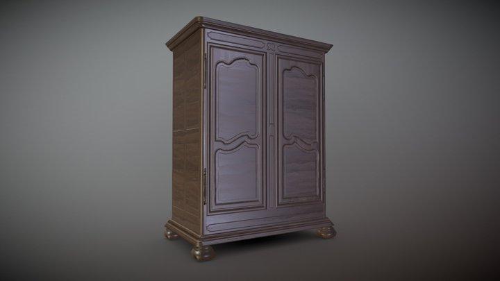New_lowpolyWardrobe 3D Model