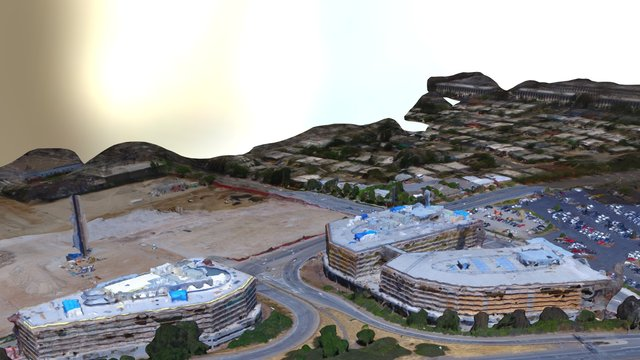 Highway 101 South, San Mateo, Ca 3D Model
