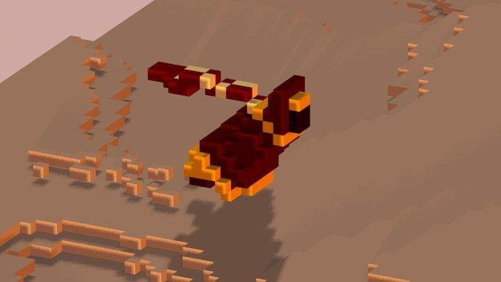 The Journey Begin - Pixel Art 3D 3D Model