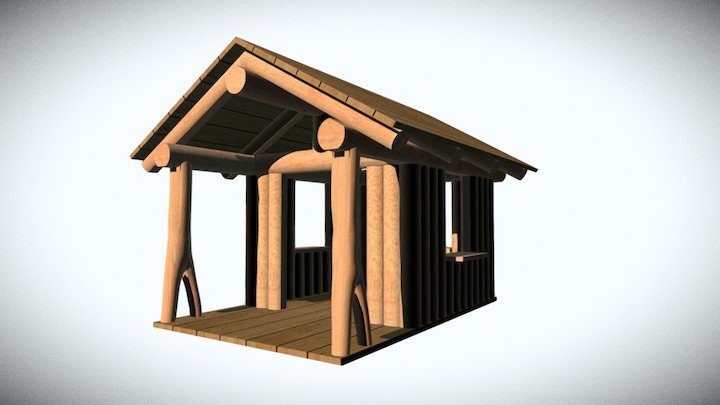 Playscape Cabin 3D Model