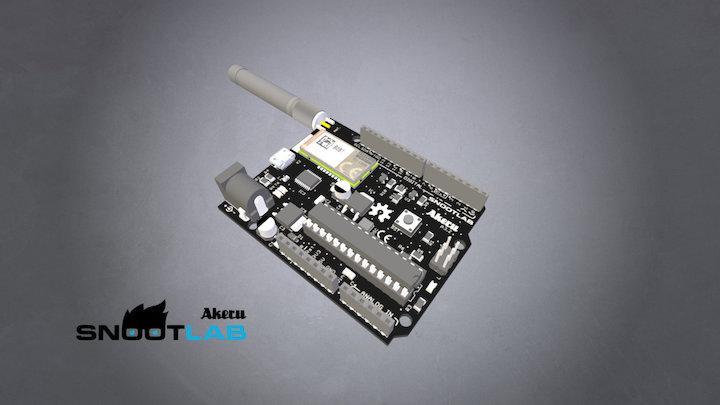Akeru with antenna (β3.2) 3D Model