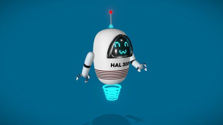 HAL 3000 - A Robot by Benefits Corps. 3D Model