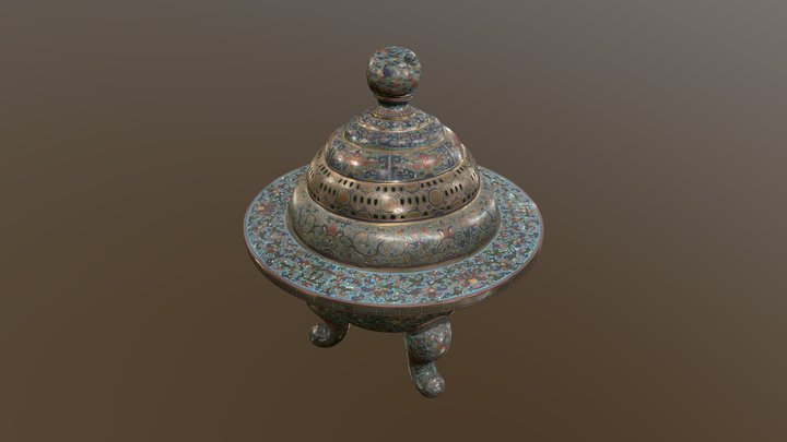 Incense burner 3D Model