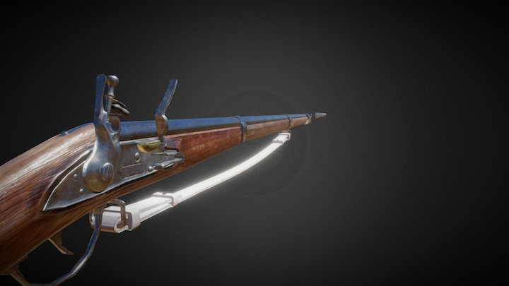 Charleville 77 (Musket model 1777) New 3D Model