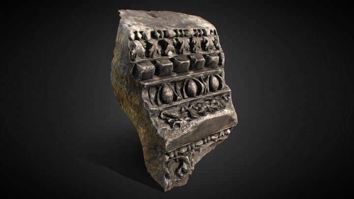 Roman decorated stone 3D Model