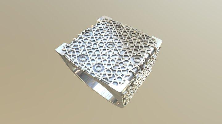 Men's ring fairness - Arabic pattern 3D Model