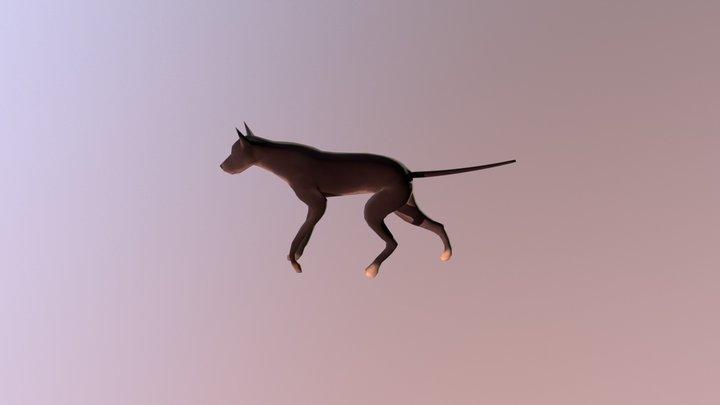 Lowpoly Dog Walk 3D Model