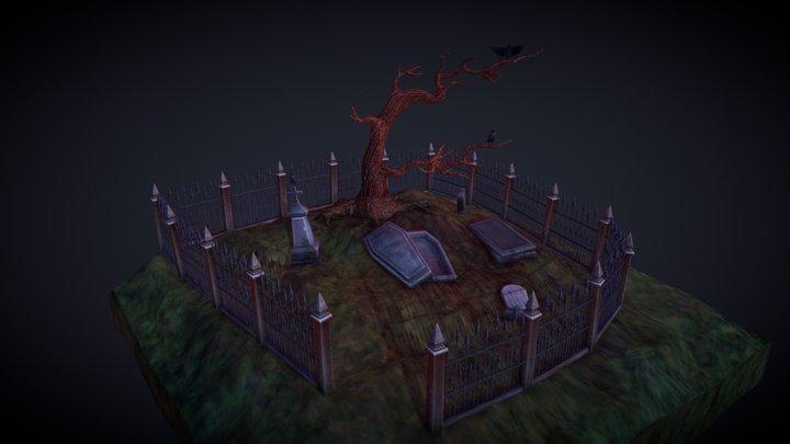 Headstone - Graveyard 3D Model