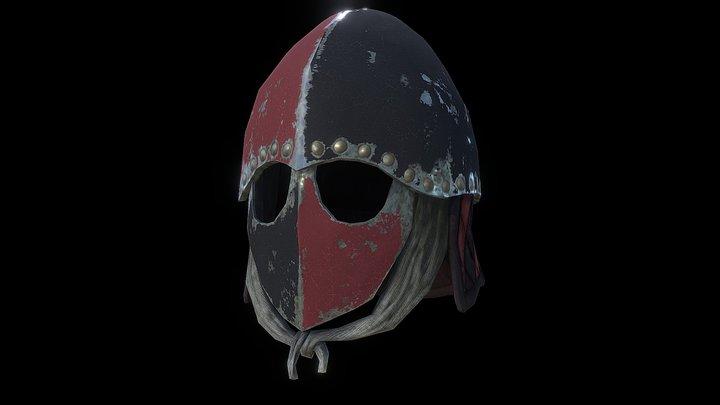 Painted Patriot Mason Knight Helmet 3D Model