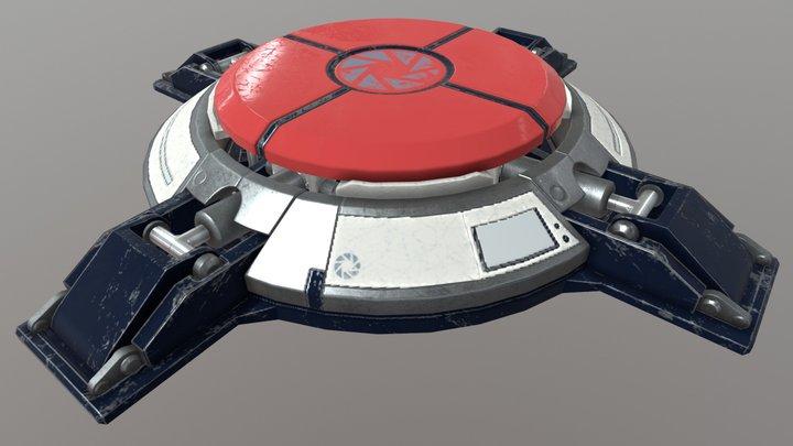 Portal Super Button 3D Model