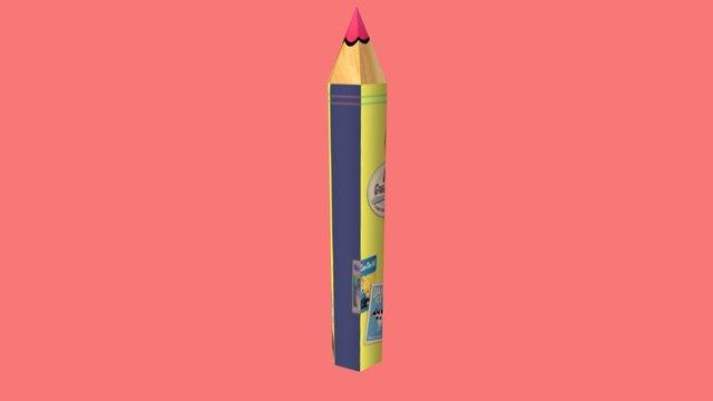 07_color pencil 3D Model