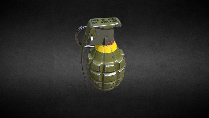 The Mk 2 Grenade 3D Model