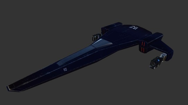 VF-221 Space Fighter 3D Model