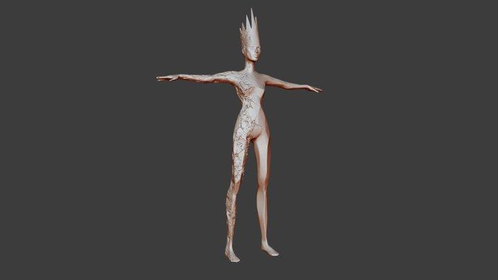 Hel - norse goddess 3D Model