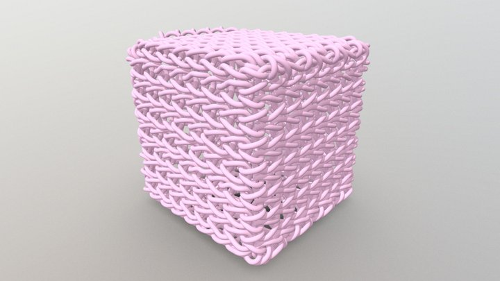 Knit Cube 3D Model