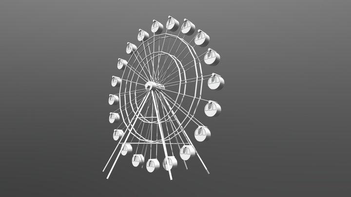 Ferris wheel (Low Poly) 3D Model