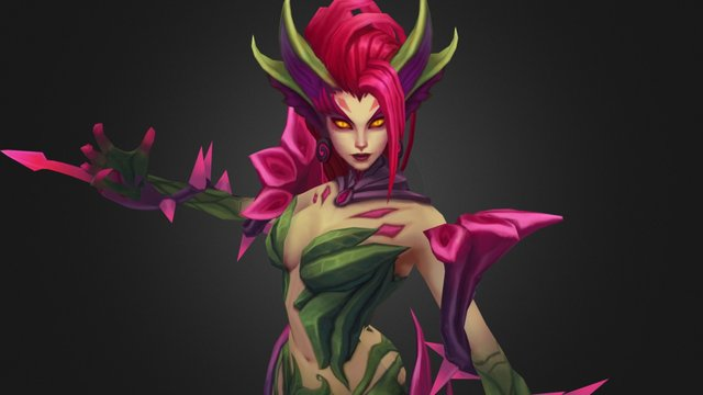 League of Legends: Zyra 3D Model