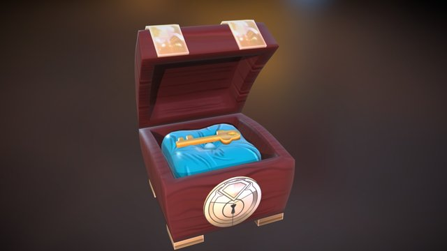 Magical Ruby Key Chest 3D Model