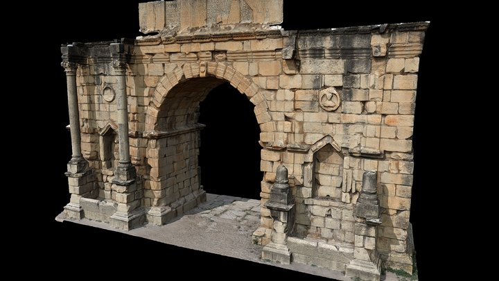 Triumphal Arch in Volubilis (Morocco) 3D Model