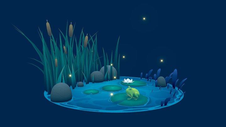 Pond Frog 3D Model