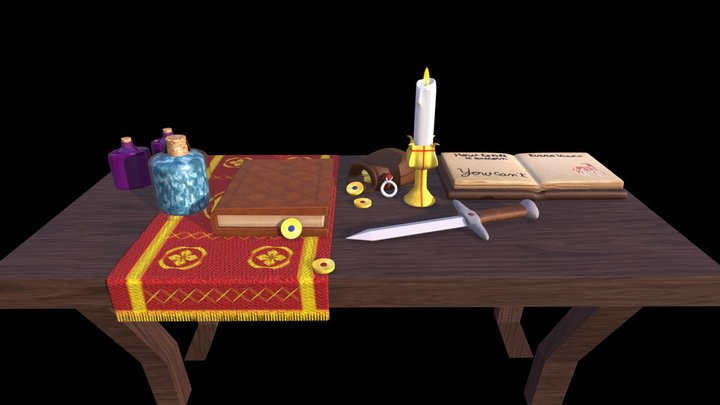 Wizard Table 3D Model