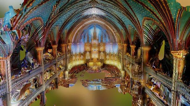 La basilique Notre-Dame de Montréal 3D Model