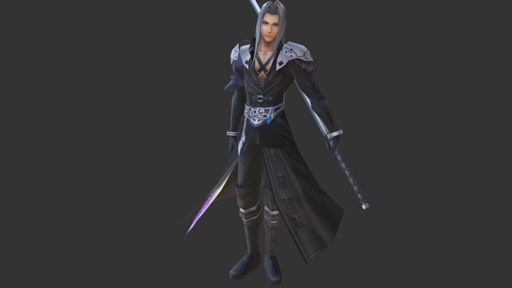 Sephiroth w/ Masamune (FF:VII) HD 3D Model