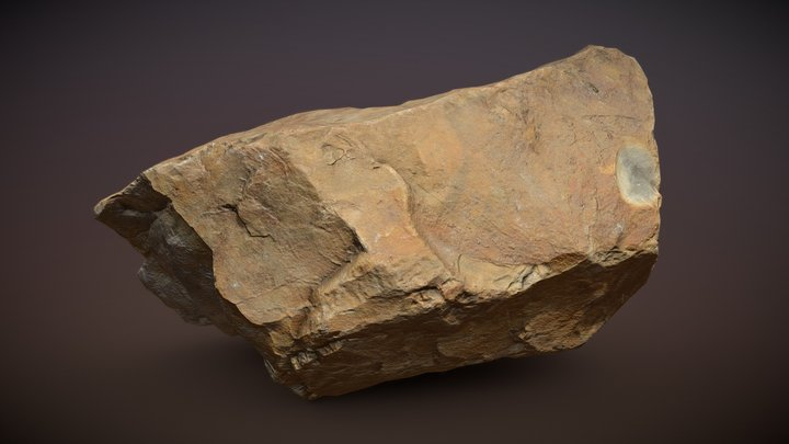 Red Rock Photo-scan Gameready 3D Model