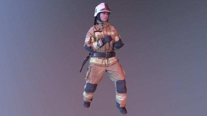 Firefighter_poly100k_tex2k 3D Model