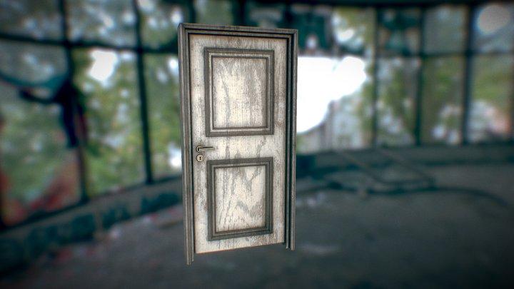 Old Grunge Door 3D Model