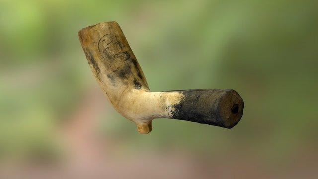 Thomas Dormer: Clay Tobacco Pipe.  ca.1755-1756 3D Model